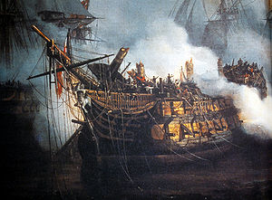 French ship Bucentaure (1803) - Bucentaure at Trafalgar