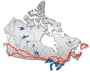 Map Of Canada Roads.Trans Canada Highway Wikipedia