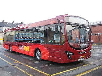 Burnley Bus Company - Mainline liveried Wright Eclipse bodied Volvo B7RLE