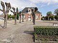 Travecy (Aisne) ancienne école, place du Bicentenaire de la Révolution.JPG