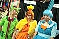Treecko, Torchic & Mudkip cosplayers (16010559115).jpg