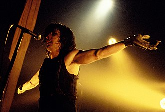 Nine Inch Nails - Reznor performing during the Self-Destruct tour, circa 1994–1995