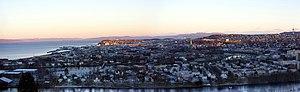Trondheim, panorama fra Byåsen
