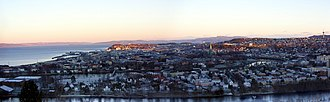 Trondheim - A panorama of Trondheim, Trondheim Fjord and surrounding areas