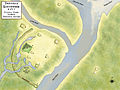Troyville Earthworks layout Troyville culture HRoe 2011.jpg