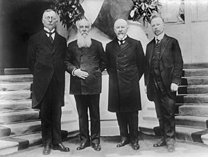Nikola Pašić - From the left: A. Trumbić, Nikola Pašić, Milenko Vesnić and Ivan Žolger.