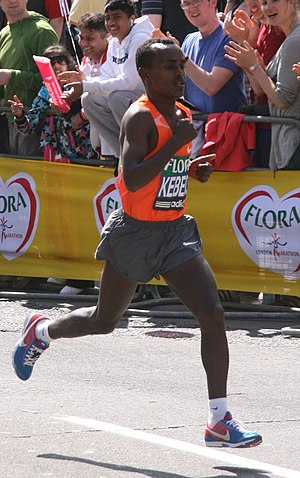 Tsegay Kebede at the 2009 London Marathon