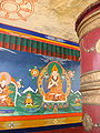 Tsong khapa with prayer wheel Tikshe.jpg