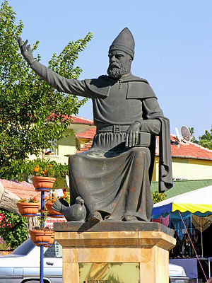 Haji Bektash Veli - Sculpture of Haji Bektash Veli in Turkey