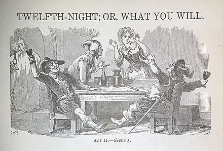 A Lithograph depicting Act II Scene III Twelfth Night Lithograph.jpg