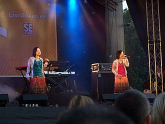 Twill (band) - Michiko and Yoko performing in Sweden (2005)