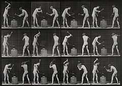 Two blacksmiths. Photogravure after Eadweard Muybridge, 1887 Wellcome V0048689.jpg