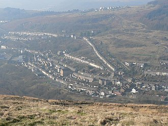 Tylorstown - Image: Tylorstown, view from above geograph.org.uk 696298