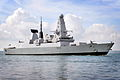 Type 45 Destroyer HMS Dauntless Entering Portsmouth MOD 45153565.jpg