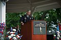 U.S. Army Maj. Gen. Tony Cucolo, the commandant of the Army War College, introduces Army Chief of Staff Gen. Ray Odierno, not shown, as the keynote speaker during the school's class of 2013 graduation ceremony 130608-A-AO884-100.jpg