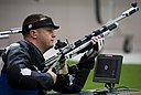 U.S. Army Sgt. 1st Class Joshua Olson competes in the 10-meter rifle competition during the 2012 Paralympic Games in London Sept 120901-F-FD742-003.jpg