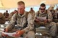 U.S. Marines with Combat Logistics Regiment 2, 2nd Marine Logistics Group, undergo combat lifesaver training during Enhanced Mojave Viper (EMV), on Marine Corps Air Ground Combat Center Twenty-nine Palms, CA 120905-M-KS710-003.jpg