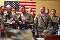 U.S. Soldiers with Echo Company, 2nd Battalion, 506th Infantry Regiment, 4th Brigade Combat Team, 101st Airborne Division, receive a briefing before heading out on a mission in Khowst province, Afghanistan 130602-A-DQ133-006.jpg