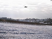 Fotomontáž - UFO vložené do digitální fotografie