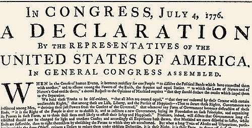 500px US original Declaration 1776 To the people of Europe #ALT