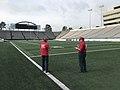 USACE personnel on War Memorial Stadium field.jpg