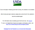 USDA Website Government shutdown notice.png