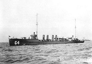 USS Rowan (DD-64) - Image: USS Rowan DD64