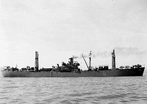 USS Aludra (AK-72) - Image: USS Aludra (AK 72) 1942 43