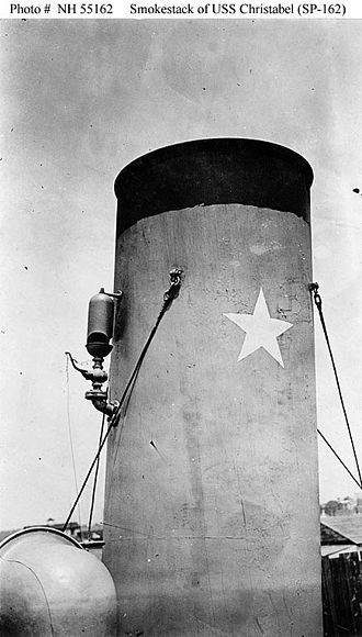 United States Navy operations during World War I - Image: USS Christabel star