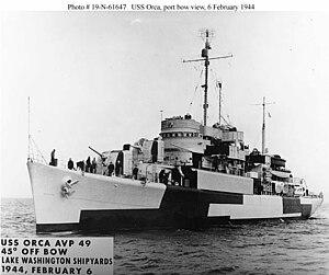Ethiopian Navy - Image: USS Orca (AVP 49) 2