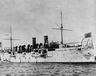 USS Philadelphia (C-4) - USS Philadelphia at sea