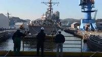 File:USS Stethem (DDG 63) Enters Dry Dock.webm