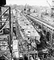 USS Timmerman (DD-828) under construction at Bath Iron Works on 20 January 1950.jpg