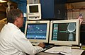 US Navy 030819-N-9593R-130 A civilian technician follows the progress of a CT Scan at the National Naval Medical Center in Bethesda, Maryland.jpg