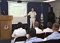 US Navy 040821-N-7274P-066 Commander, Naval Reserve Forces Command, Vice Adm. John Cotton, speaks to Sailors about future changes affecting the Navy's reserve force.jpg