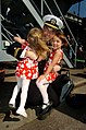 US Navy 041101-N-6213R-050 Lt.j.g. Brad Maronde is welcomed home by his daughters after disembarking from the Nimitz-class aircraft carrier USS John C. Stennis (CVN 74) at Naval Air Station North Island in San Diego, Calif.jpg