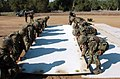 US Navy 070501-N-7365L-001 Seabees from Naval Mobile Construction Battalion (NMCB) 40 place bolted fabric sections together during a Rapid Runway Repair exercise.jpg