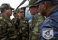 US Navy 070907-N-1810F-235 Lt. Col. Robert Gaddis meets with Nicaraguan Military during a humanitarian relief operation in Puerto Cabezas.jpg