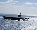 US Navy 100227-N-1854W-977 USS George H.W. Bush (CVN 77) goes full reverse while conducting high-speed drills.jpg