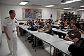US Navy 100329-N-2389S-034 Rear Adm. Barry Bruner, commander of Submarine Group 10, talks to engineering students at Arizona State University during Phoenix Navy Week. Phoenix is one of 20 Navy Weeks planned across America for.jpg