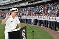 US Navy 100602-N-8848T-413 Vice Adm. Mark Ferguson, Chief of Naval Personnel, enlists 88 new recruits from the Chicago area, Indiana, and Wisconsin at the 25th annual Chicago White Sox Navy Night.jpg