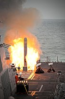 US Navy 100621-N-0251Z-016 USS Sterett (DDG 104) launches its first tomahawk land attack missile.jpg