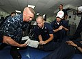 US Navy 100804-N-5838W-010 Members of the medical training team provide first aid training to religious ministries department Sailors aboard the aircraft carrier USS Enterprise (CVN 65).jpg