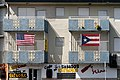 US and Puerto Rico flags on a building in Puerto Rico.jpg