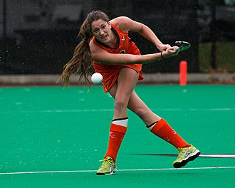 Virginia Cavaliers - University of Virginia student athlete competing in field hockey