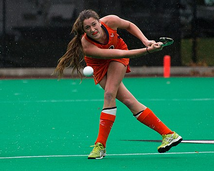 University of Virginia student athlete competing in field hockey UVA field hockey.jpg