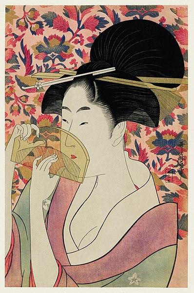 398px-Ukiyo-e_illustration_by_Utamaro_Kitagawa,_digitally_enhanced_by_rawpixel-com_3.jpg (398×600)