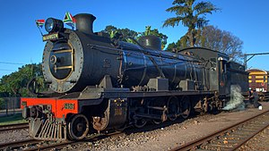 Umgeni Steam Railway, locomotive 1486 Maureen, Kloof station 06-Jun-2010.jpg