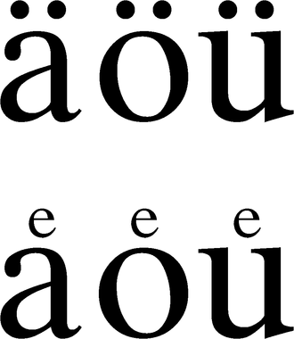 Diaeresis (diacritic) - New and old forms of umlaut