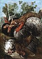 Una zorra devorando aves, atribuido a Giacomo Nani (Museo del Prado).jpg